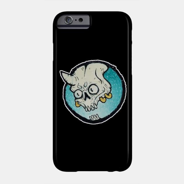 turquoise devil bones horror phone case teepublic