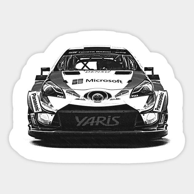 f133b4afa5 Toyota Yaris WRC 2018 - Rally Car - Sticker