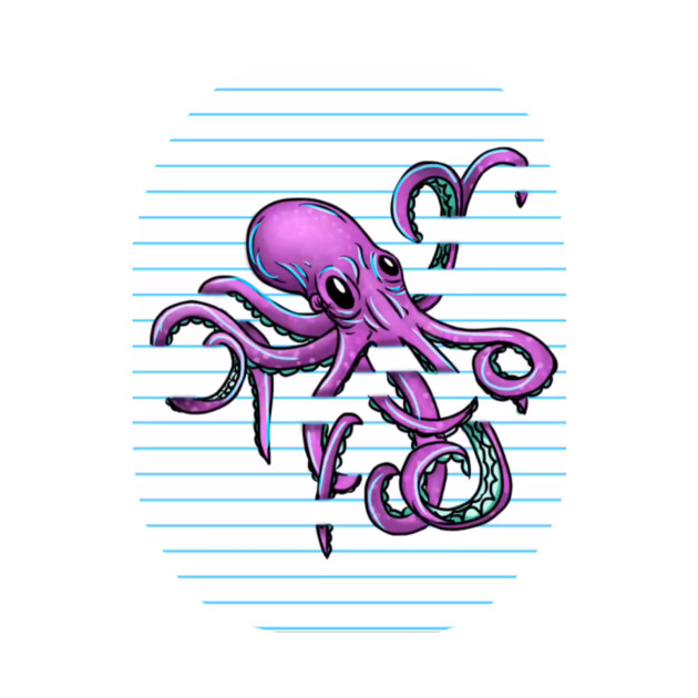 Octopus Lined Paper