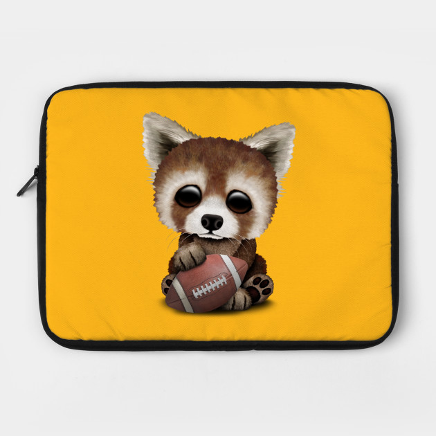 Cute Baby Red Panda Playing With Football