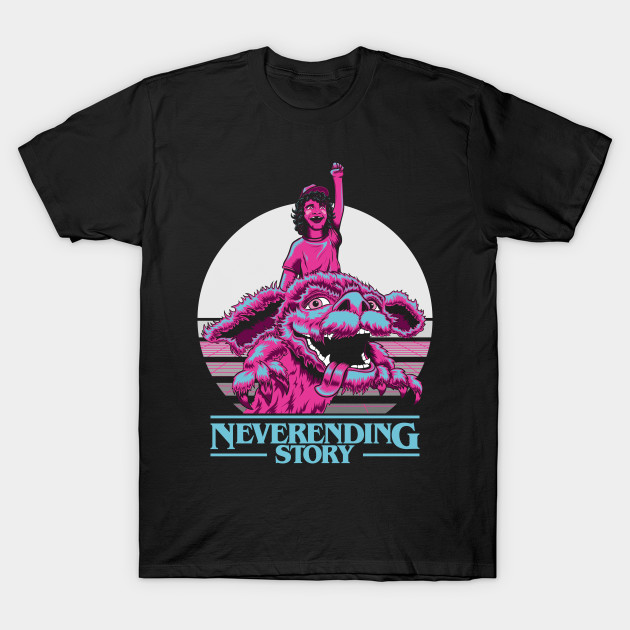707a8c752d17fc Neverending Things - A Neverending Story - Stranger Things Mash Up T-shirt  ...