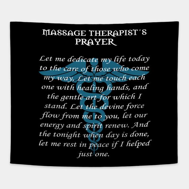 Massage therapist prayer gift