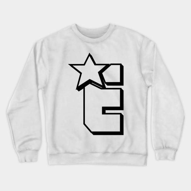 Mens Letter E Crewneck Sweatshirt-Unisex