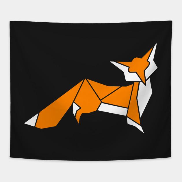 Little Fox Origami Fox Tapestry Teepublic