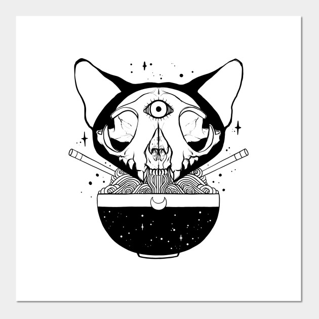 Cosmic Cat Skull Ramen Noodles