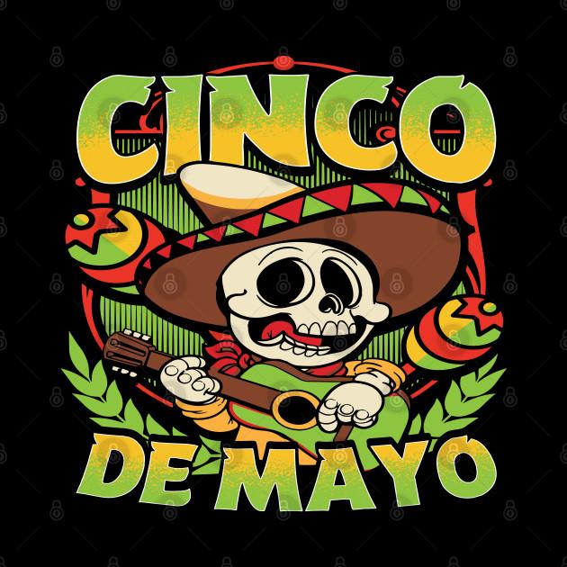 Funny Sombrero & Mexican Guitar Gift, Vintage Cinco de Mayo