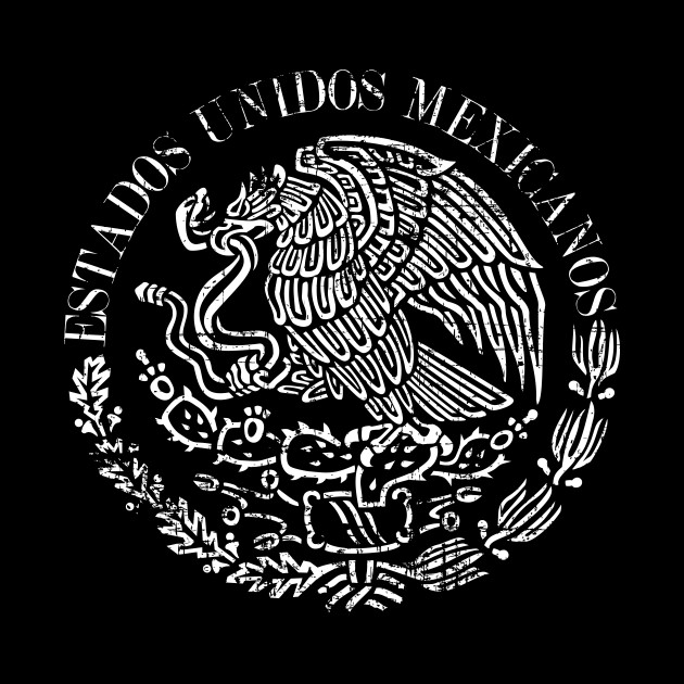 Estados Unidos Mexicanos - Mexican Coat of arms - Grunge design