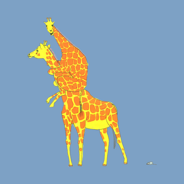 Giraffe Scared Of The Little Mouse