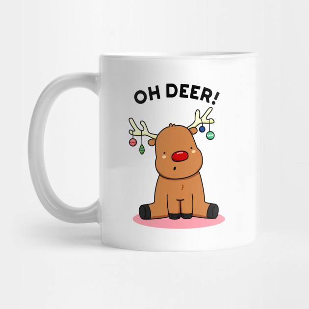 Oh Deer Cute Christmas Reindeer Pun by punnybone