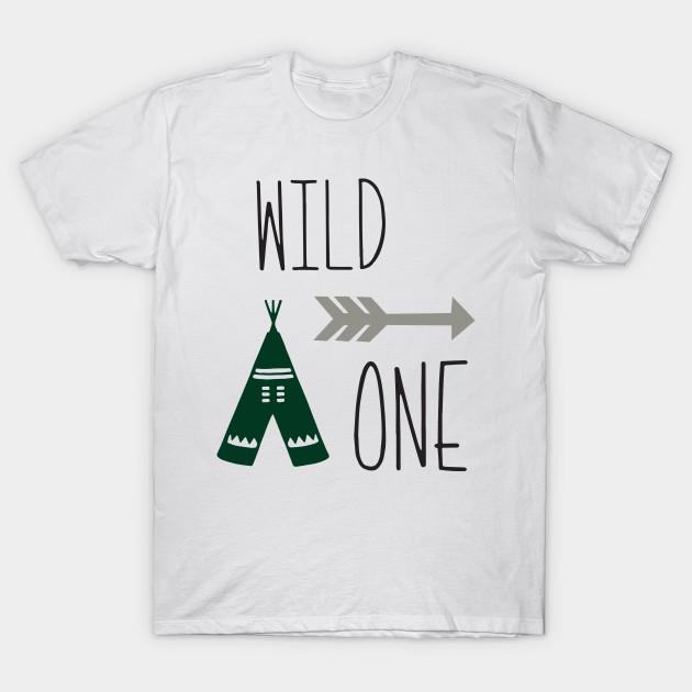 Wild One 1st Birthday Onesie First Outfit Shirt Boy Girl T