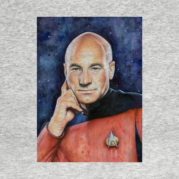 Captain Picard Watercolor