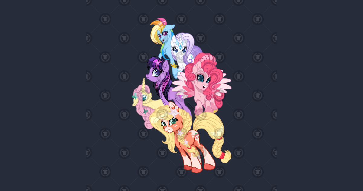 My Little Pony G5 Inspired Mane 6 by sketchedcrow