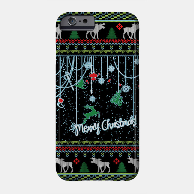 light up christmas Ugly Christmas Sweater Phone Case