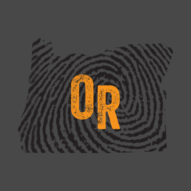 Home State Fingerprint  - Oregon Beavers