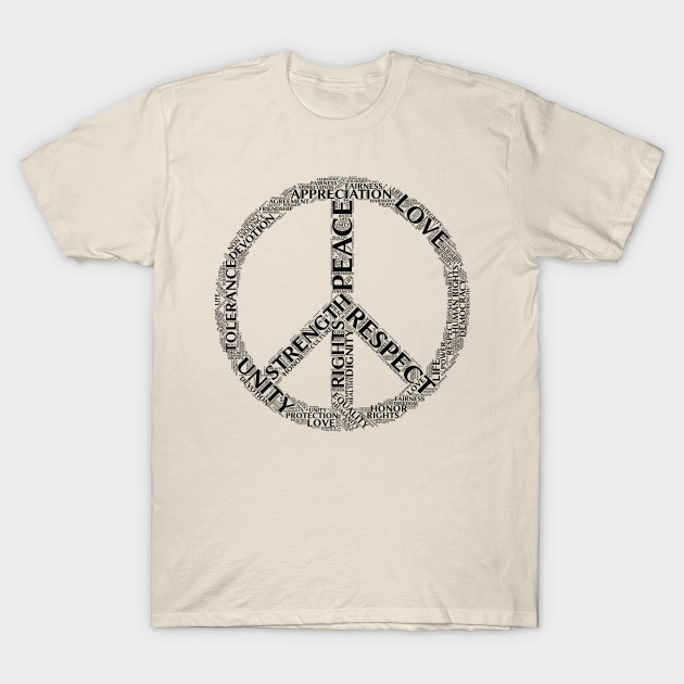 Peaceful Words - Peace - T-Shirt | TeePublic
