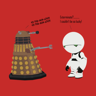 Dalek Marvin mashup t-shirts