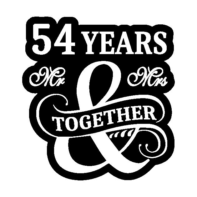 54th Wedding Anniversary Shirt 54 Years Mr Mrs 54th Wedding Anniversary Gift Sticker Teepublic