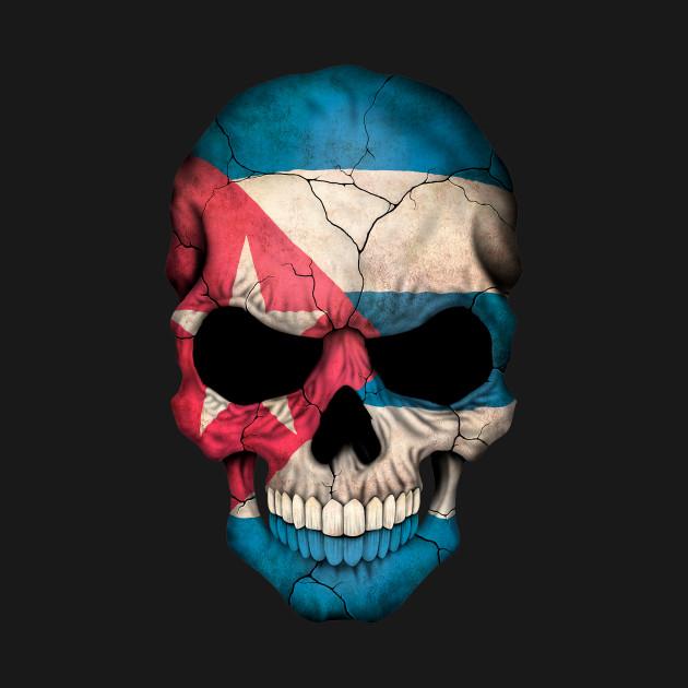 Cuban Flag Skull