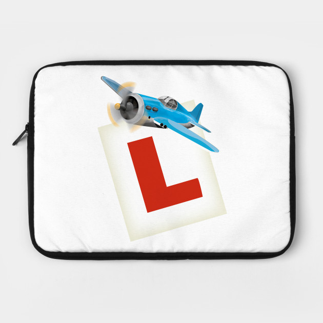 Learner sign with a flying helicoptor