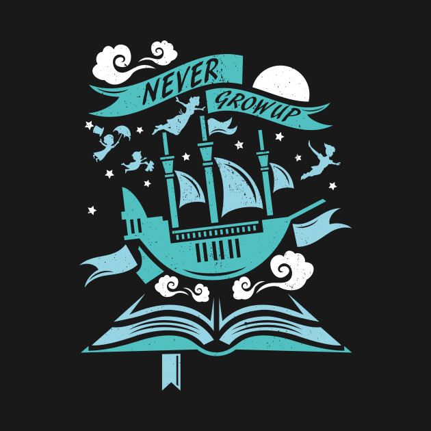 Never Grow Up Peter Pan Tote Teepublic