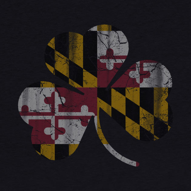 State Flag of Maryland Flag Shamrock