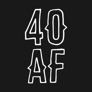 40th Birthday Design T Shirts