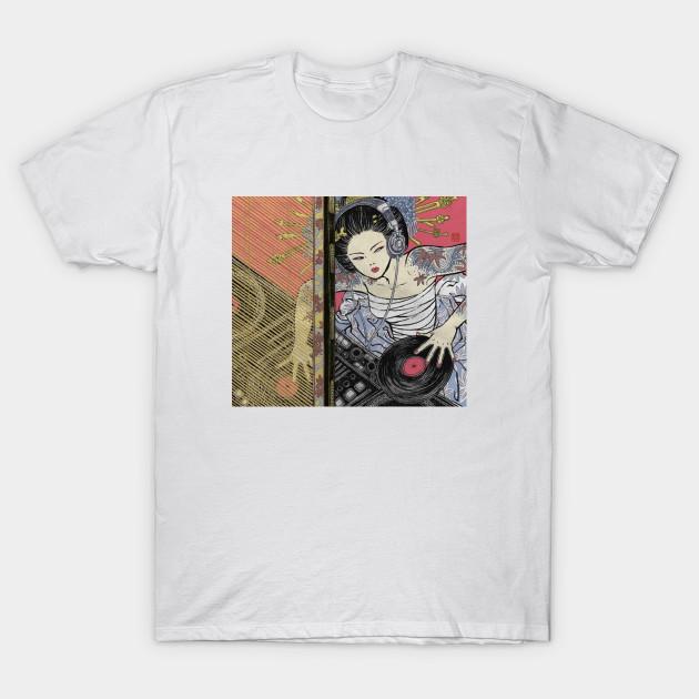 fd96d84fd47a Japanese Geisha DJ Vaporwave Aesthetic - Vaporwave Aesthetic - T ...