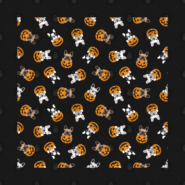 Pumpkin Halloween pug dog lovers trick Unique Pattern