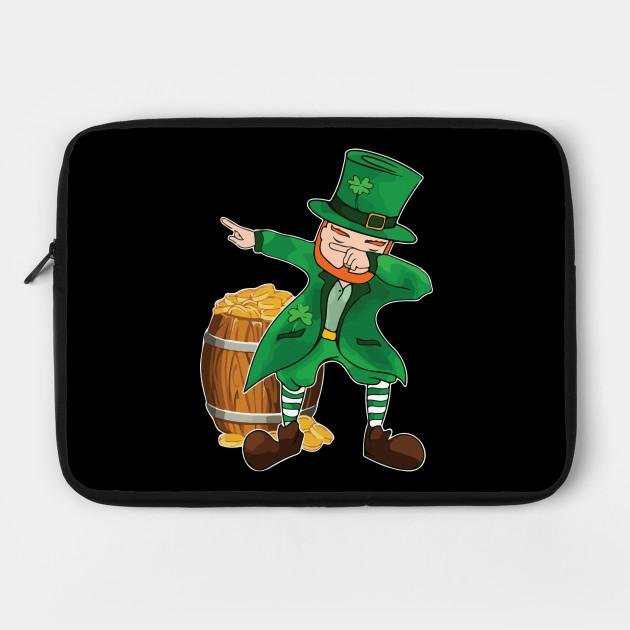 b9cc35d69 Funny St Patricks Day T-Shirt Dabbing Leprechaun Tee Dab - Funny St ...