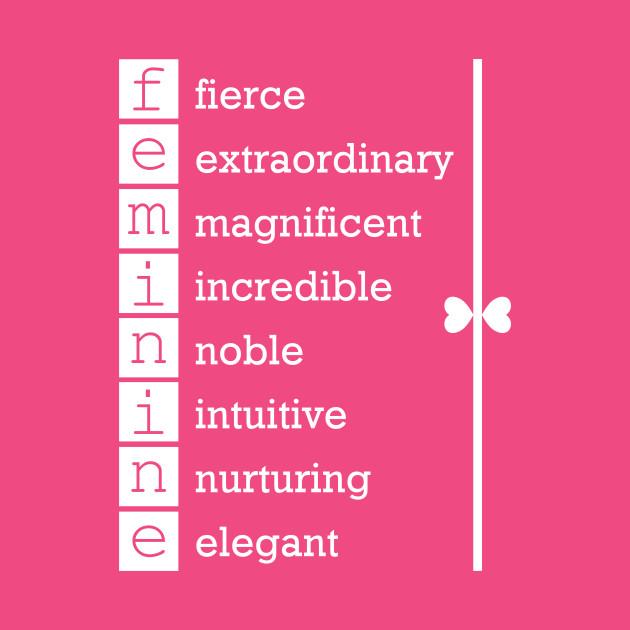 Feminine inspirational words in White