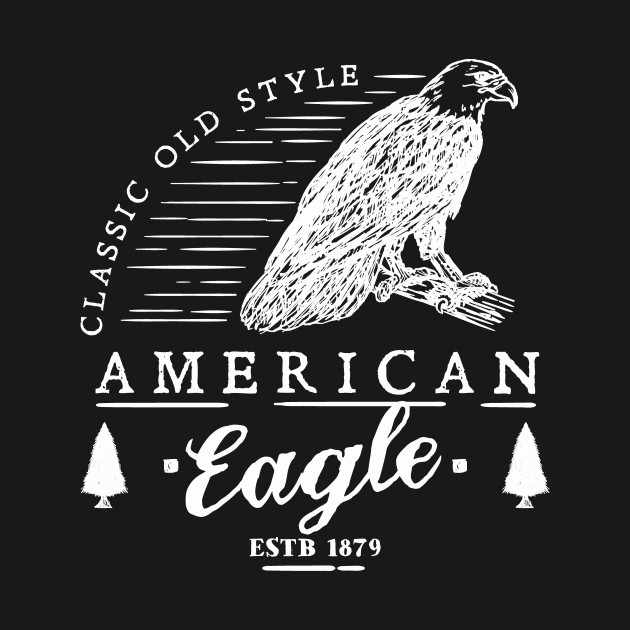 Retro Animal American Eagle White