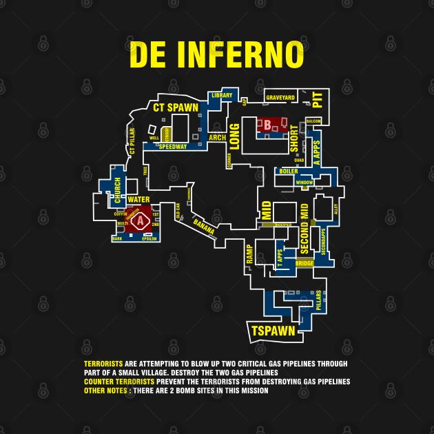 T-Shirt Csgo Inferno map