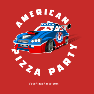 American Pizza Party Driver t-shirts