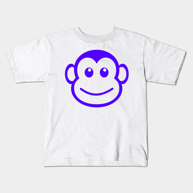 c6093437c LIMITED EDITION. Exclusive Funny Monkey Face Simple Path Kids T-Shirt