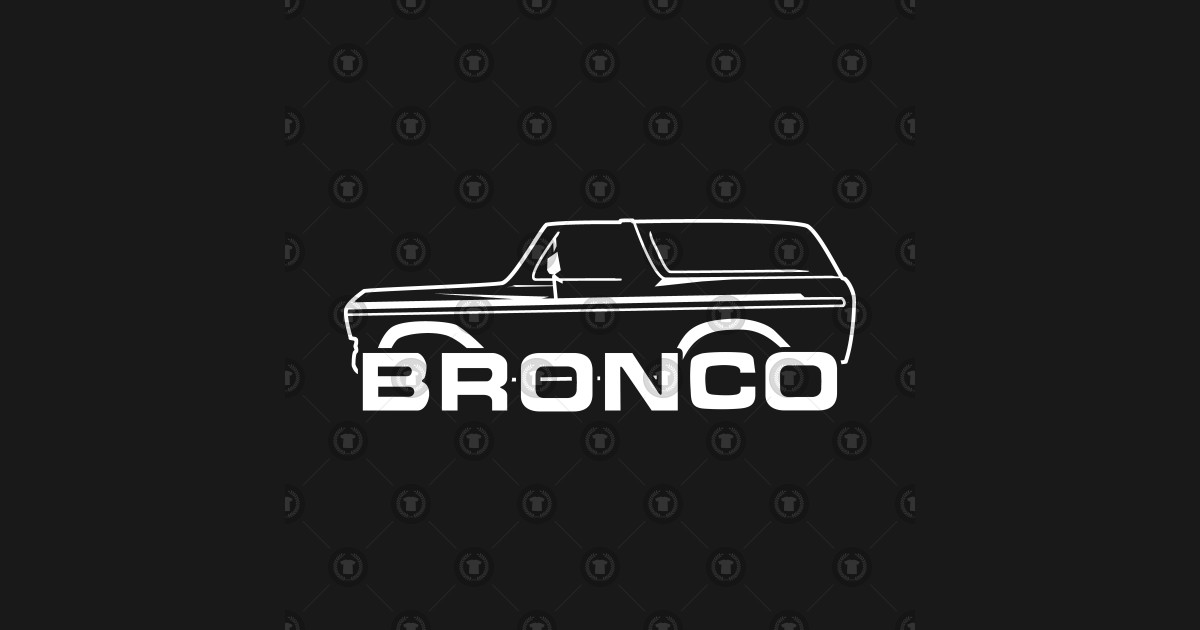 1978-1979 Ford Bronco White With New Logo