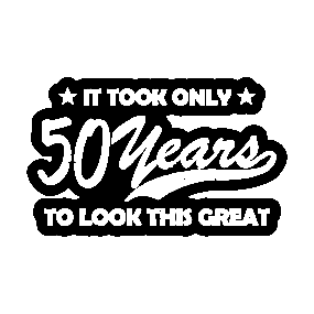 Main Tag 50th Birthday Gift Stickers