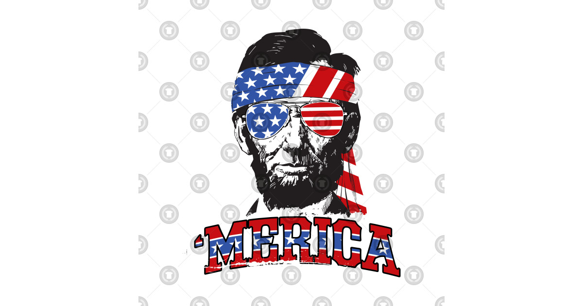 b405fcc5260ebe Abe Lincoln Merica - 4th Of July - T-Shirt