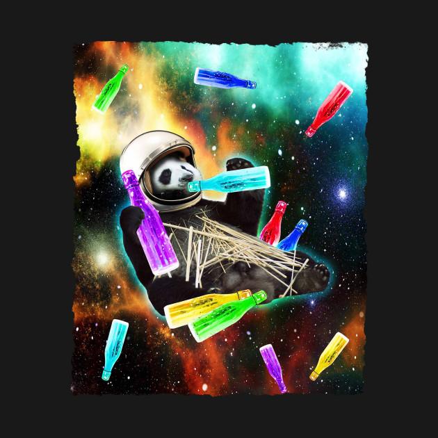 Astronaut Panda In Space