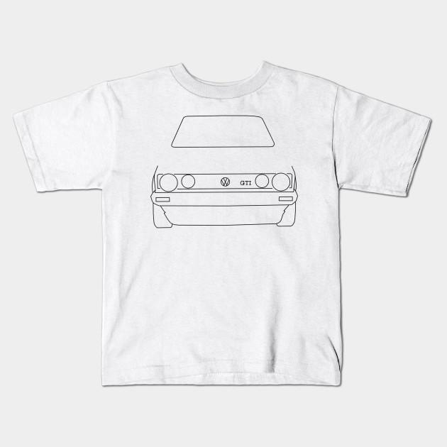 7114a62b0 VW Golf GTI Mk 1 outline graphic (black) - Golf - Kids T-Shirt ...