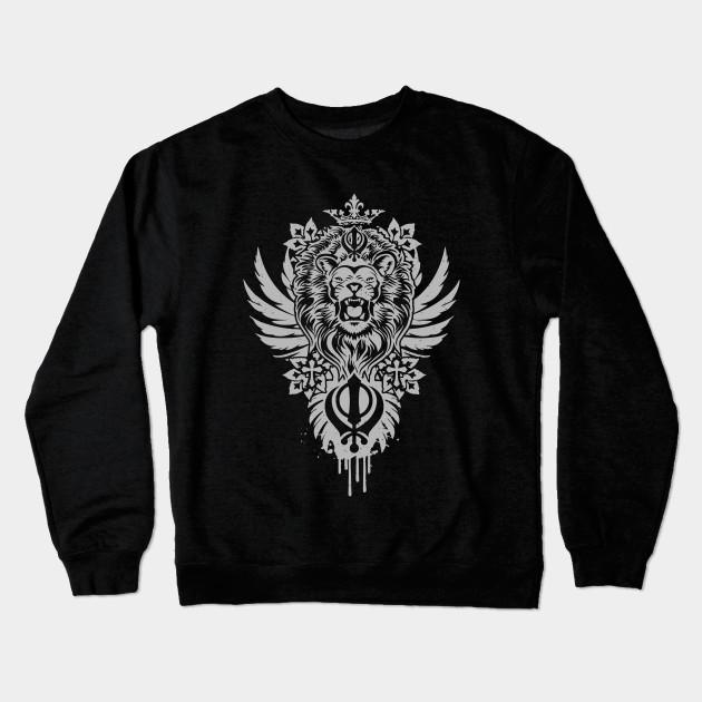 9b201105a Khanda Lion - Lion - Crewneck Sweatshirt | TeePublic