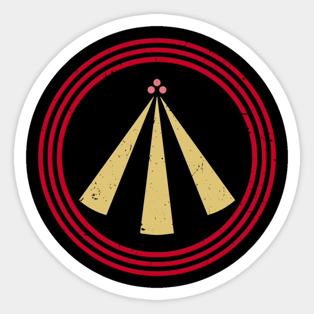 The Neo Druid Symbol Of Awen In Japanese Colors Awen Sticker