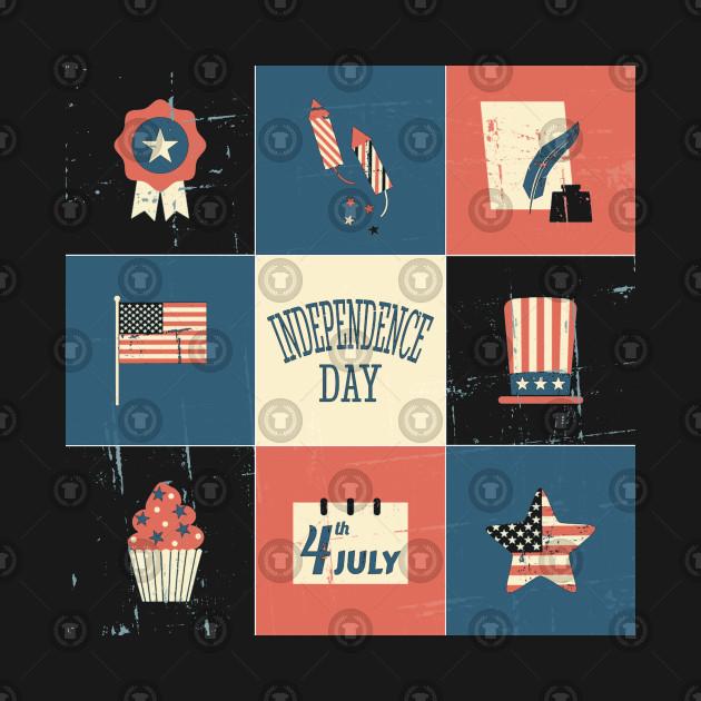 American Flag Vintage Style