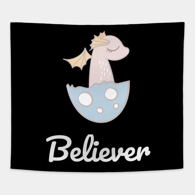 Baby Dragon Hatching from Egg Dragon Kids Believer T-Shirt