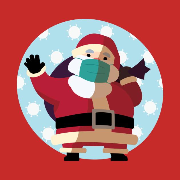 Covid Claus - Santa Claus Masks Up to Slow the Spread of Coronavirus/COVID-19