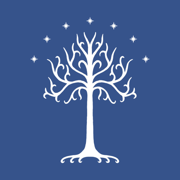 White Tree Of Gondor White Lord Of The Rings