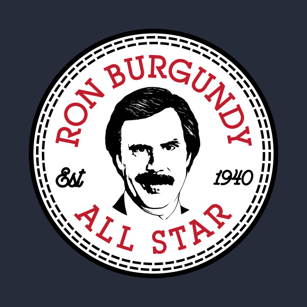 Ron Burgandy Anchorman All Star Converse Logo
