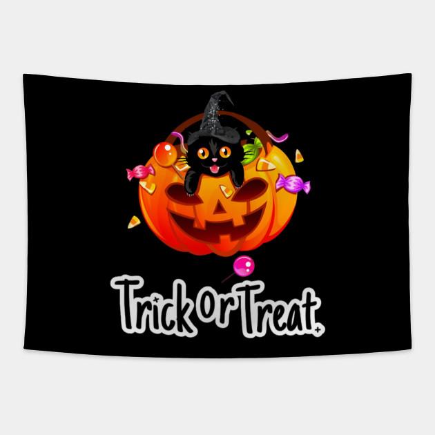Cat Trick or Treat Funny Halloween Costume