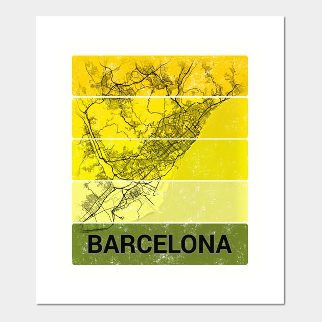 Barcelona Espana Spain City Map Barcelona Posters And Art Prints Teepublic