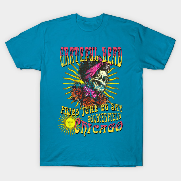 The Grateful Dead Concert Poster, distressed T-Shirt