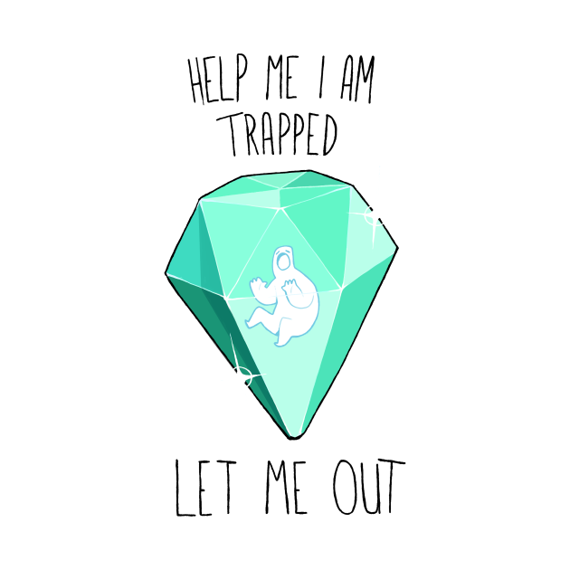 He is trapped!